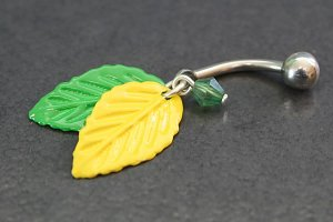 Cabana Leaf Belly Ring