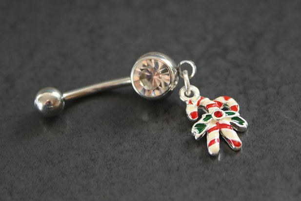 Candy Canes Belly Ring