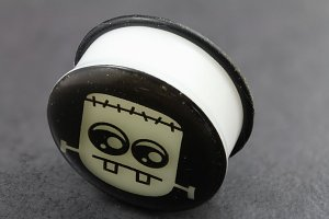 Cartoon Monster Glow in the Dark Plugs