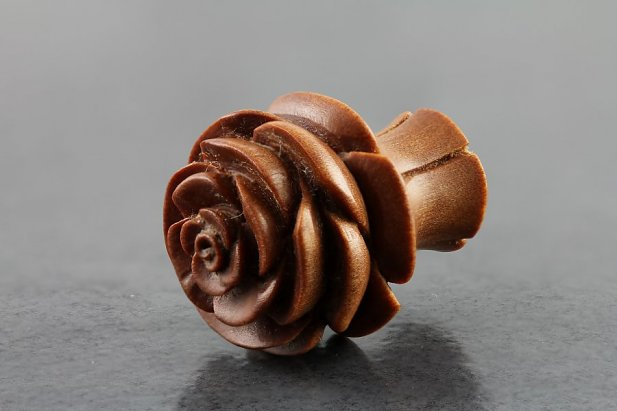 Carved Flower Sawo Wood Plugs