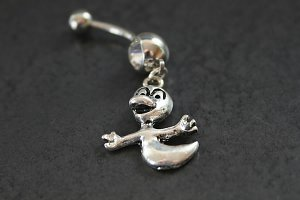 Casper the Friendly Ghost Belly Ring