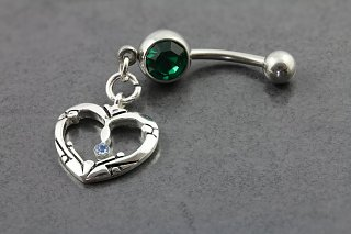Celtic Charm Gem Belly Bar