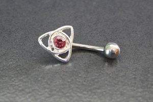 Celtic Heart Belly Ring