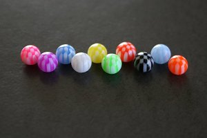 Checkered Acrylic Replacement Ball