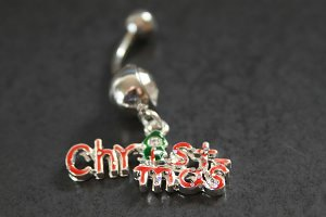 Christmas Dangle Belly Ring