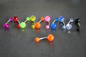 Clear Acrylic Belly Rings