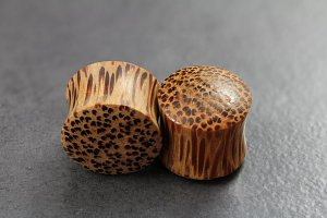 Coconut Wood Flared Plugs