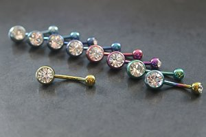 Coloured Duo Jeweled Belly Ring