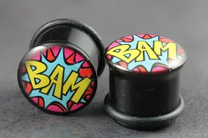 Comic Bam! Single Flared Plugs