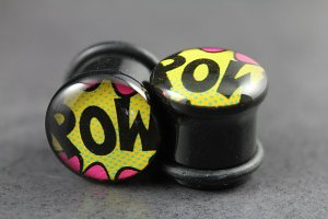 Comic Pow! Single Flared Plugs