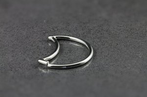 Crescent Moon Seamless Ring