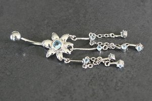 Daisy Dangle Belly Ring