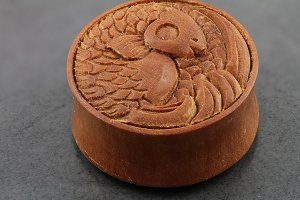 Dark Sawo Wood Carved Koi Plugs