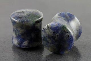 Denim Sodalite Stone Flared Plugs