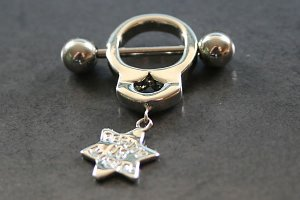Deputy Marshall Handcuff Nipple Ring