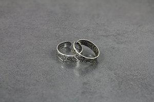 Engraved Feet Toe Ring