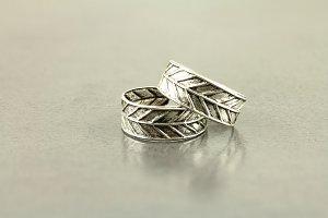 Engraved Leaf Toe Ring