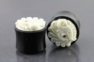 Eye of Zen Organic Horn and Bone Plugs