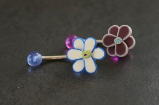 Fimo Flower Belly Ring