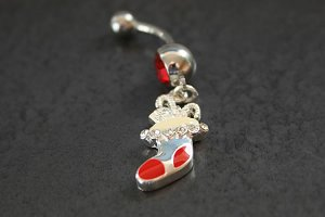 Full Stocking Christmas Belly Ring