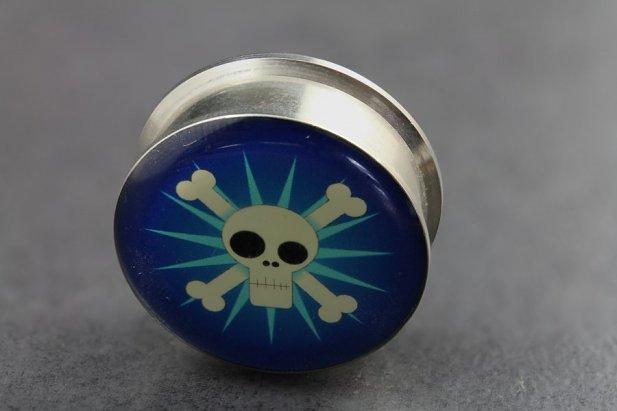 Funky Skull Logo Plugs
