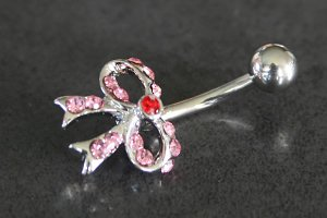 Gem Bow Tie Navel Ring