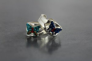 Gem Butterfly Toe Ring