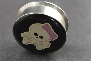 Girly Skull Logo Ear Plugs