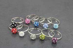 Glitter Gem Ball Toe Ring