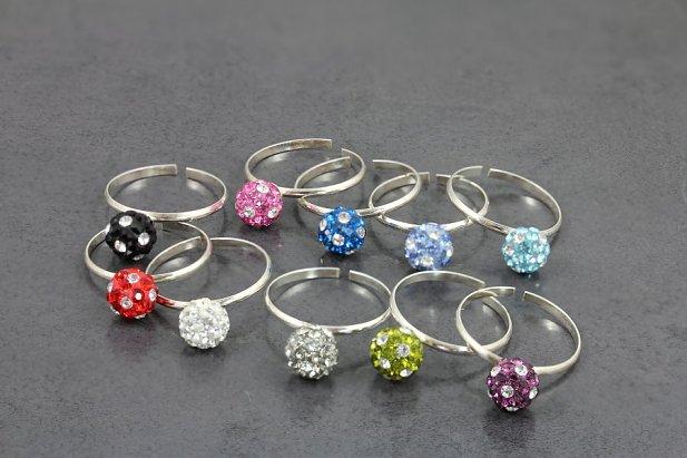Glitter Gem Ball Toe Ring