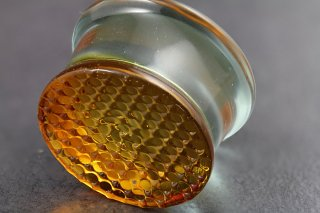 Golden Honeycomb Glass Flared Plugs