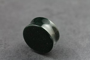 Green Goldstone Double Flared Plugs