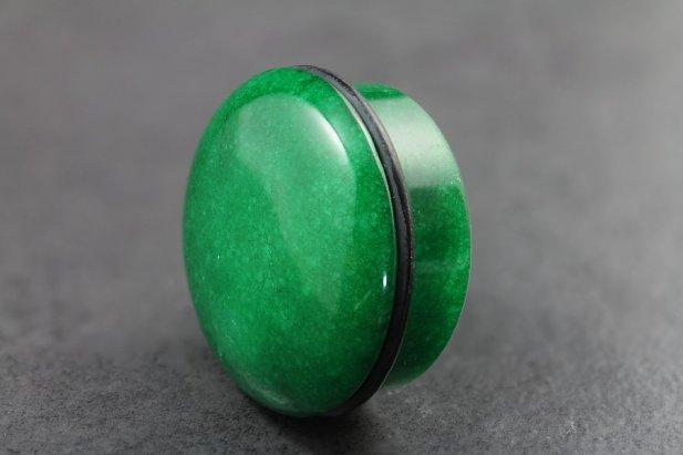 Green Stone Top Hat Plug