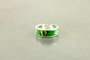 Hand Painted Butterfly Toe Ring