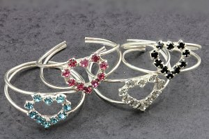 Heart of Jewels Toe Ring
