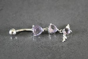 Hearts and Angel Wings Belly Ring