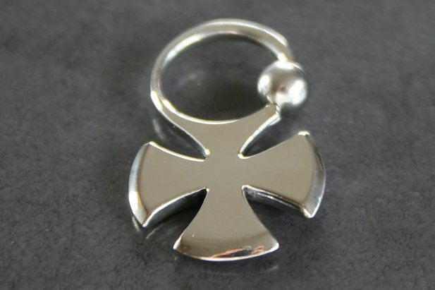 Iron Cross Captive Bead Ring