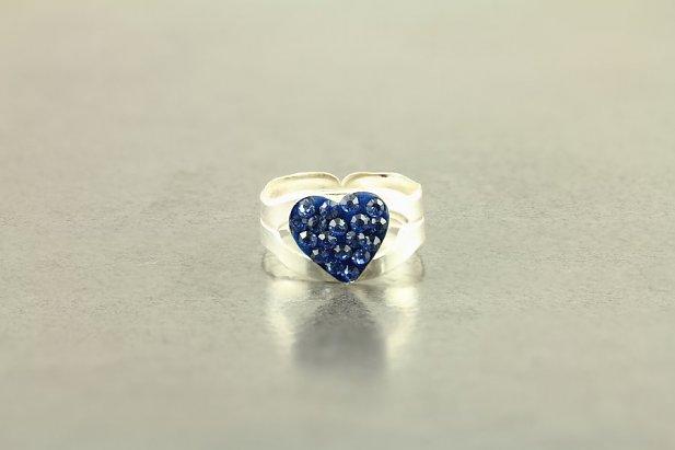 Jeweled Heart Toe Rings