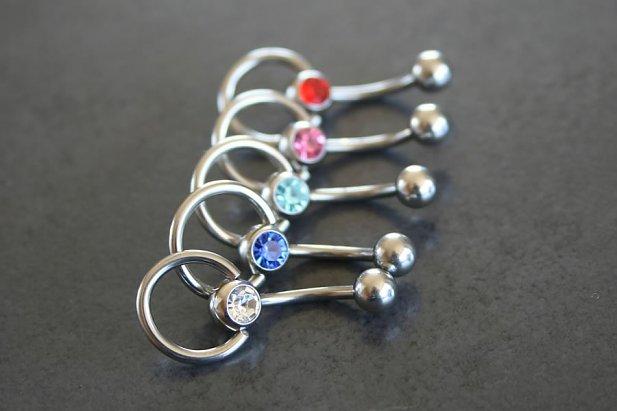Jeweled Slave Knocker Belly Ring