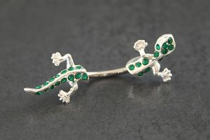 Jeweled Split Gecko Belly Ring