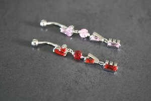 Love Dangle Belly Ring