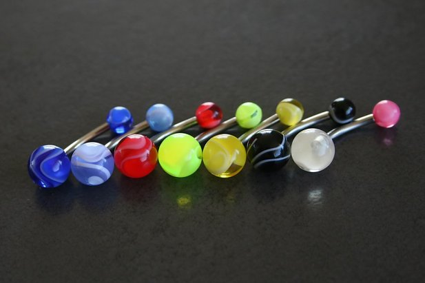 Marble UV Belly Ring