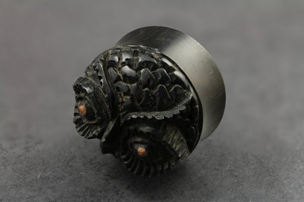 Midnight Owl Ebony Wood Plug