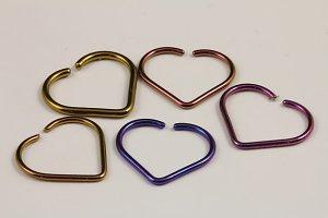 Niobium Unbreakable Heart - 16g & 18g