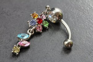 Pastel Flower and Petals Belly Bar
