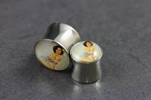 Pin Up Lady Logo Plugs