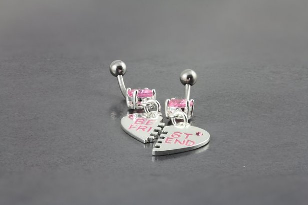 Pink Best Friend Belly Bar Set