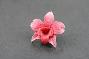 Pink Magnolia Leather Flower Plugs