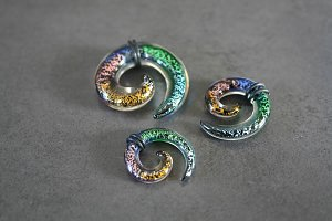 Psychedelic Multi Colour Spiral Talon