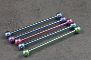 Pure Titanium Industrial Barbells